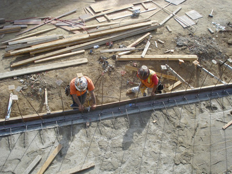 McBride contruction workers with rebar