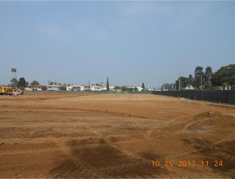 empty dirt field
