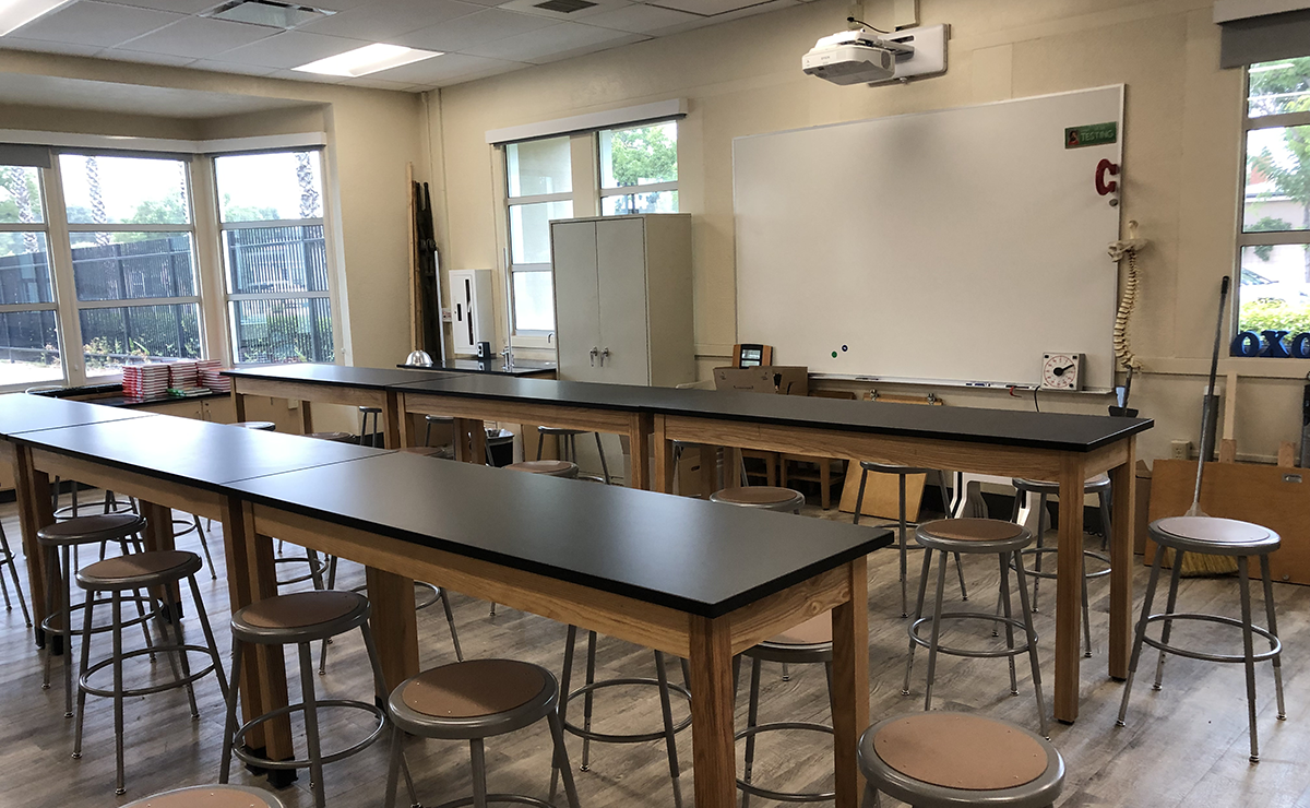 Keller MS science lab