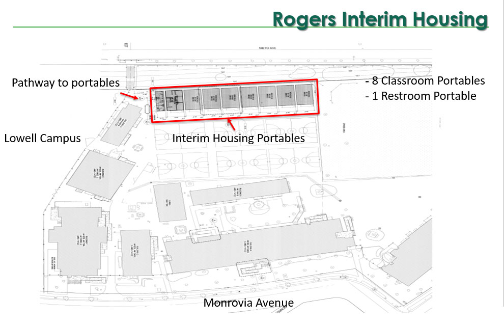 Interim housing for Lowell students on Rogers campus