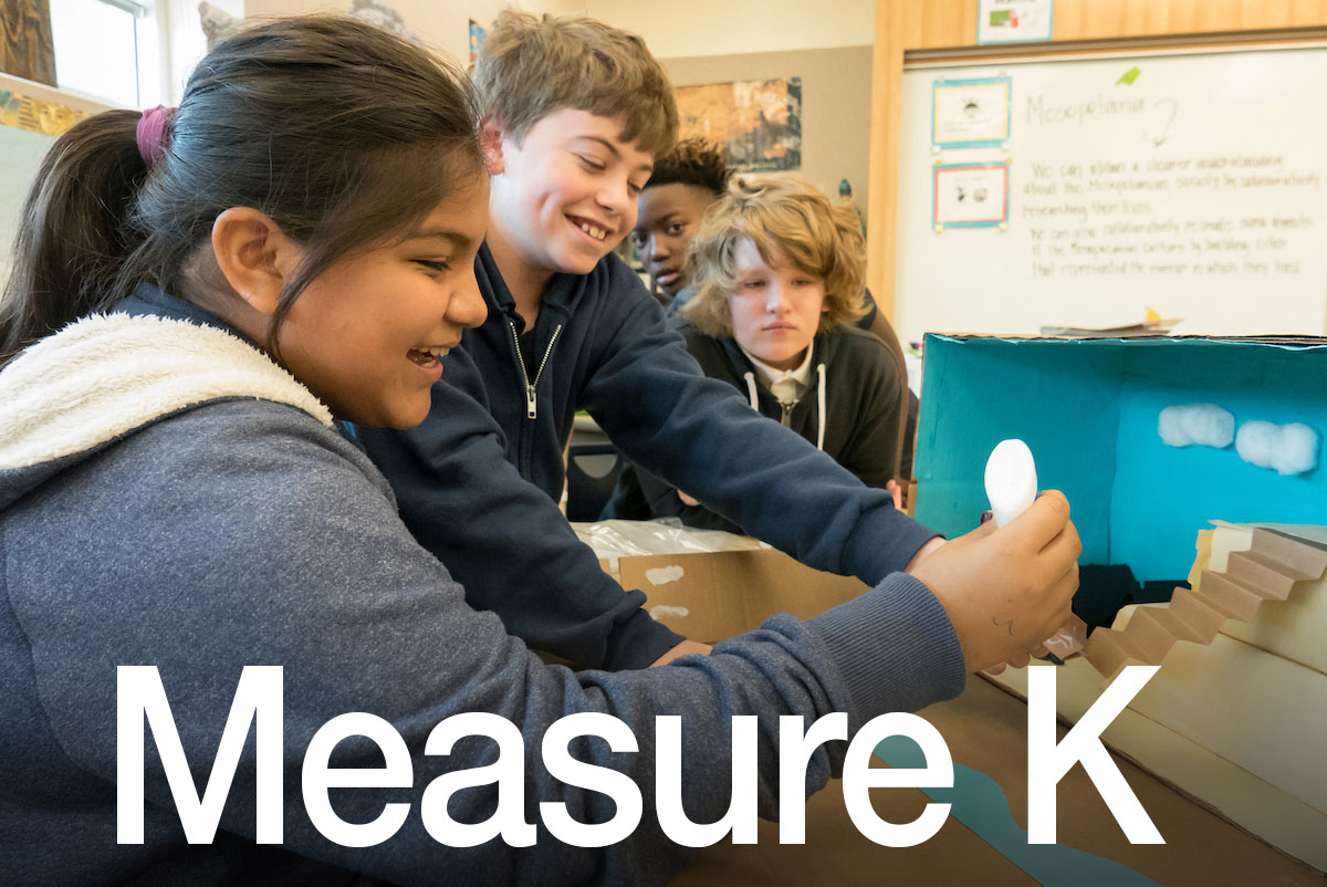 LBUSD students in uniform who benefit from Measure K school bond