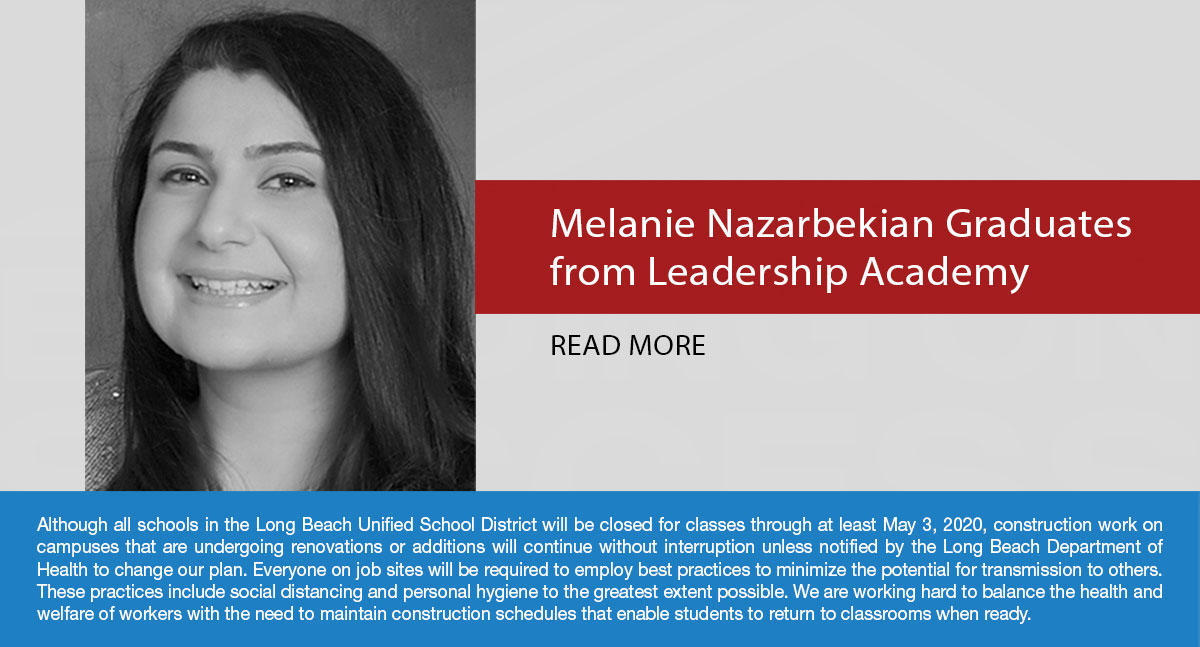 Melanie Nazarbekian, Assistant Project Manager with LBUSD School Bonds Program