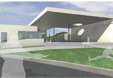 rendering of new 6-8 middle school in Signal Hill being built with Measure K funds