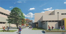 Newcomb Academy rendering in Long Beach