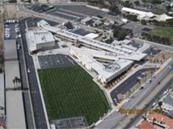 Aerial view of Nelson Middle School