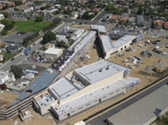 An aerial view of the school