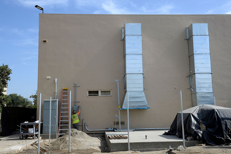 Stephens Elementary School HVAC installation in progress in Long Beach